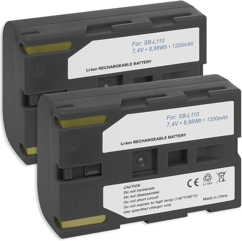 Cargador para SAMSUNG Camcorder SB-LS110 SB-L110 SB-L110A SB-L160 SB-L220 Batería