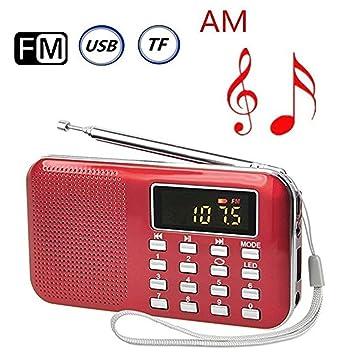 Amazon.com: Beilan Mini Digital Am FM Radio de bolsillo ...