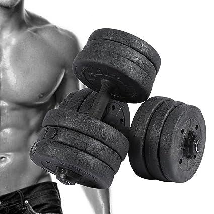 Dumbbell Pesas extraíble Pesas Entrenamiento para Press de banca übung brazo Músculos Entrenamiento 20 kg y