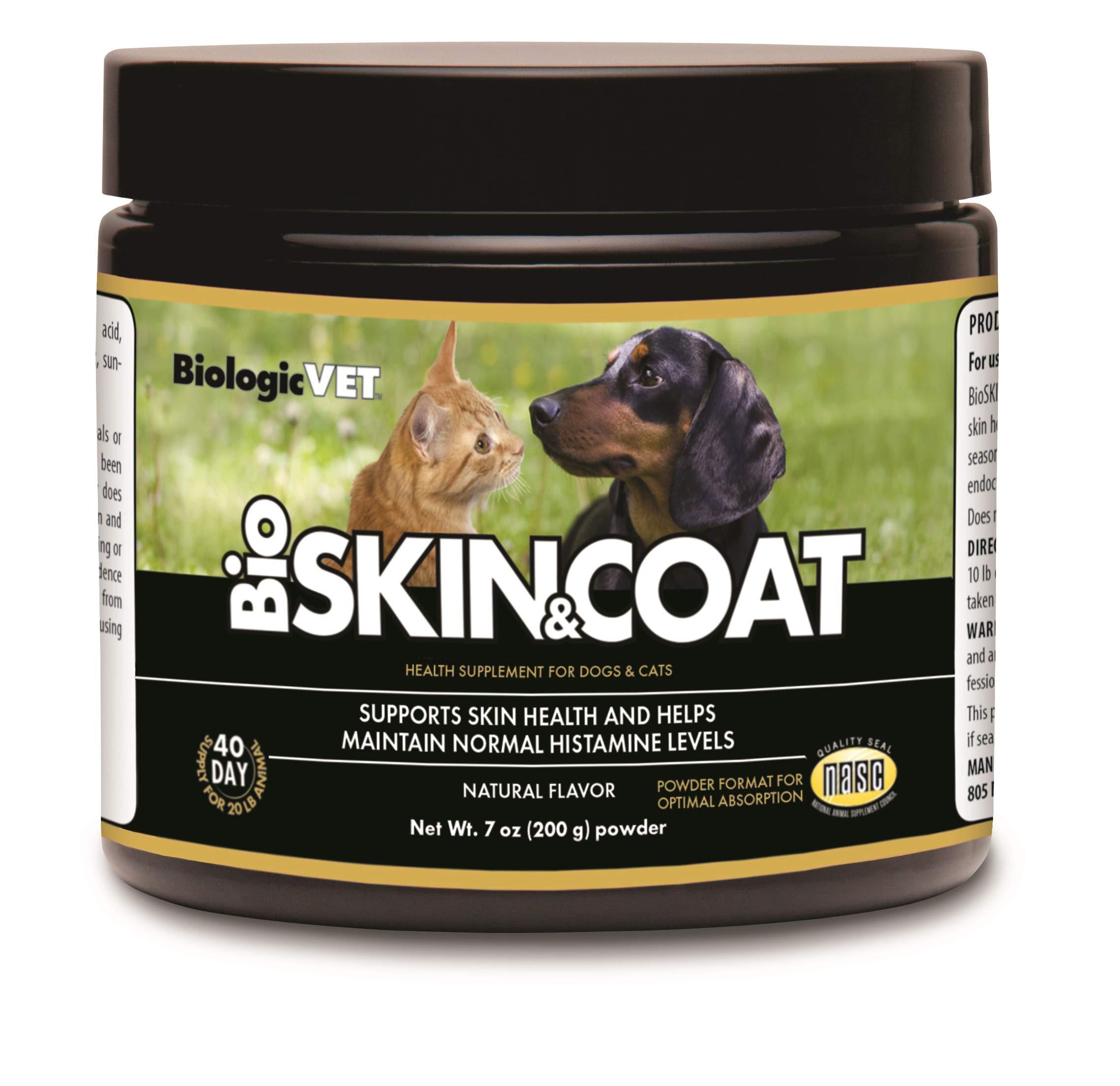 BiologicVET Bioskin&Coat Natural Antihistamine for Dogs & Cats, Powder 7 oz. by BiologicVET