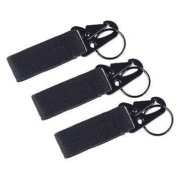 f15cc71d4f7 3 pcs bande clip engrenage porte-clé ceinture de nylon edc molle crochet de  suspension