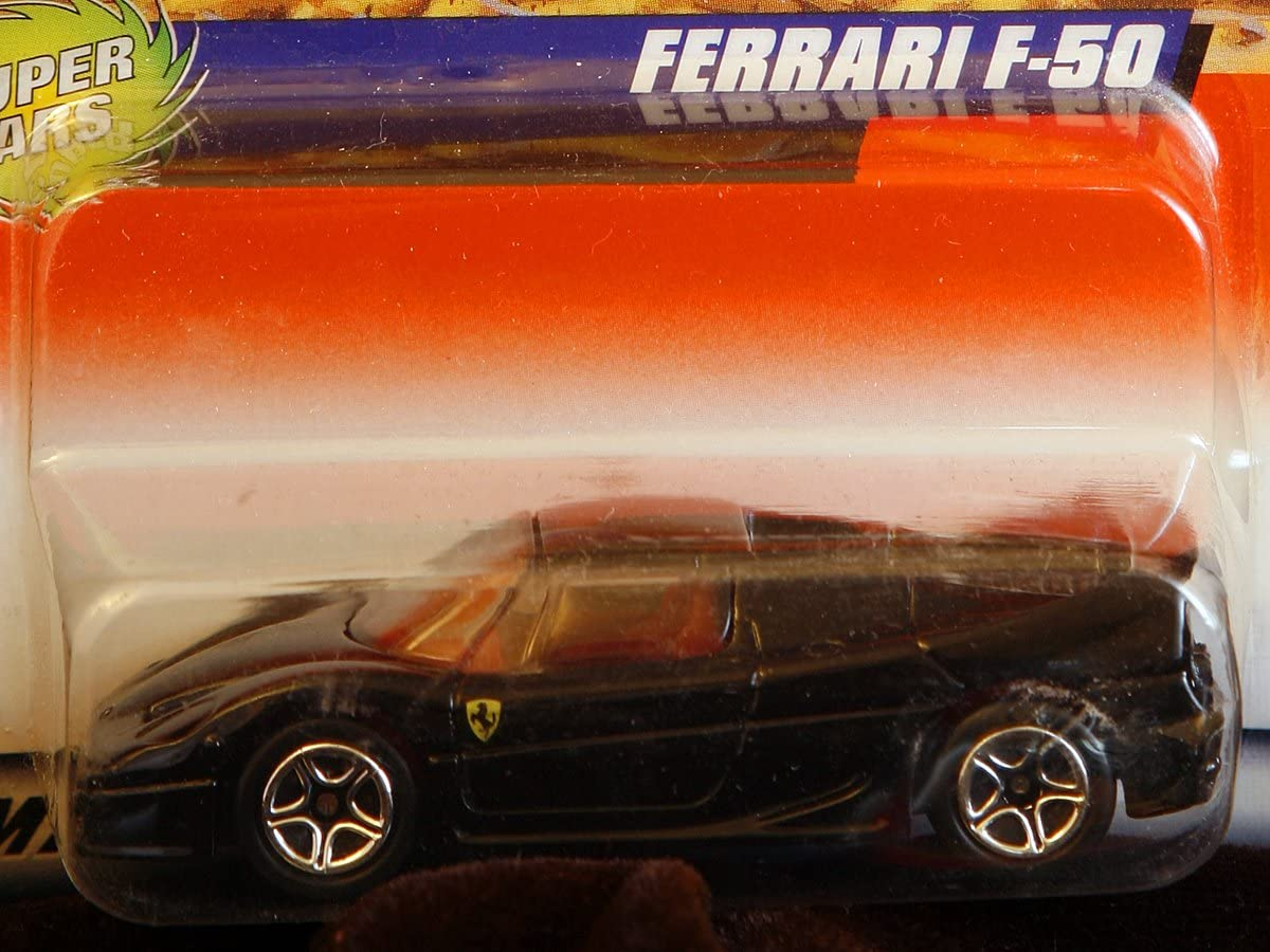 Amazon Com Matchbox By Matel Wheels Super Cars Ferrari F 50 Black W Maroon Interior 1 59 Scale Series 8 59 Toys Games