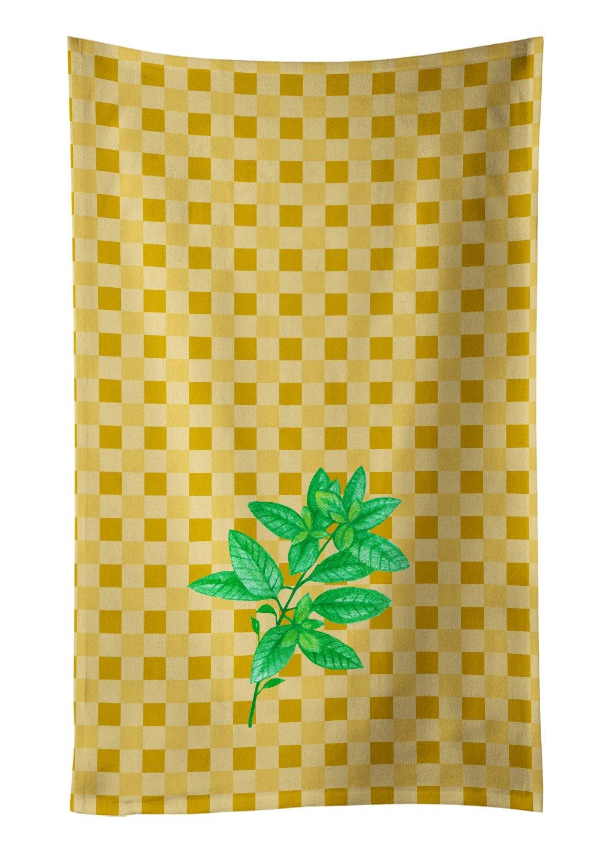 25Hx15W Carolines Treasures BB7169KTWL Gojis on Basketweave Decorated dish towel Multicolor