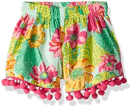 dfde06e6f3a7a Clothing, Shoes & Jewelry Shorts Masala Kids Girls Little Pom Shorts Cactus  Floral Multi