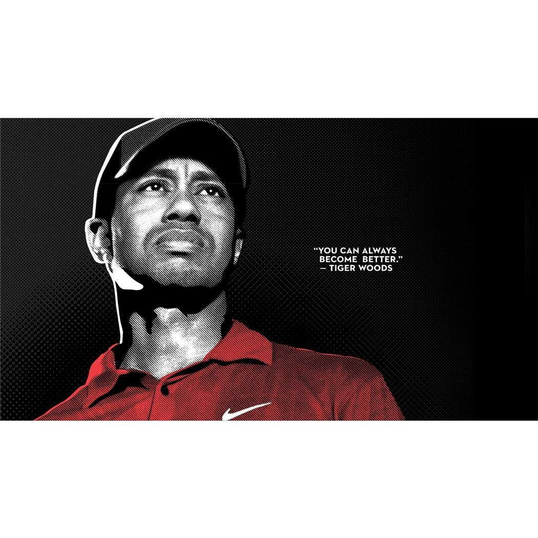 Tiger Woods Poster by Silk Printing # Size about (107cm x 60cm, 43inch x 24inch) # Unique Gift # 9FC33D