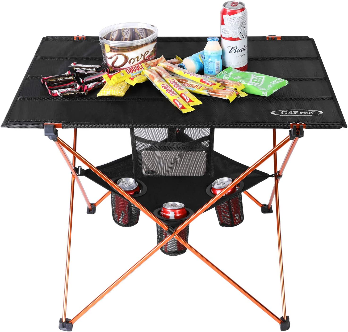 Outdoor Picnic Folding Camping Table w// Large Storage Bag Collapsible Portable