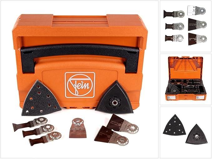 E de Cut de scie avec denture bim/étallique 6/pi/èces Star Lock Porte-outils 1/V compatible avec toutes les oszillierer Fein 35222952300/Best of E Kit daccessoires argent