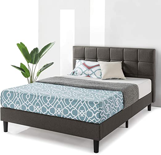 Amazon Com Best Price Mattress King Bed Frame Zoe Upholstered Platform Beds With Tufted Headboard And Wooden Slats Support No Box Spring Needed King Kitchen Dining