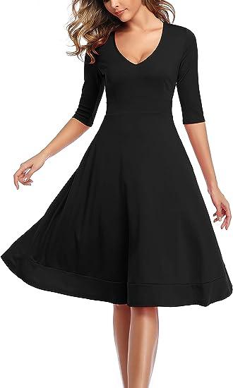 1950 vintage black cocktail dress