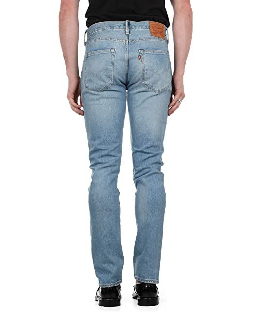 69bcd56cef62 Levi's Mens 501 Skinny Fit Jeans in Light Blue- Button Fastening- Contrast:  Levis: Amazon.co.uk: Clothing