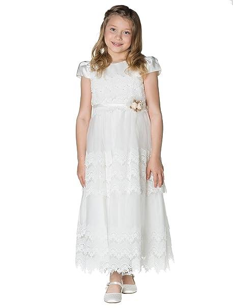 Romano - Vestido - para niña blanco Marfil 8-9 Años