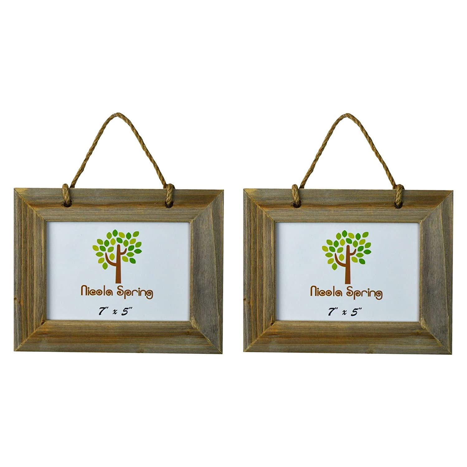 Nicola Spring Wooden Hanging Photo Picture Frame - 7 x 5 - Pack Of 2