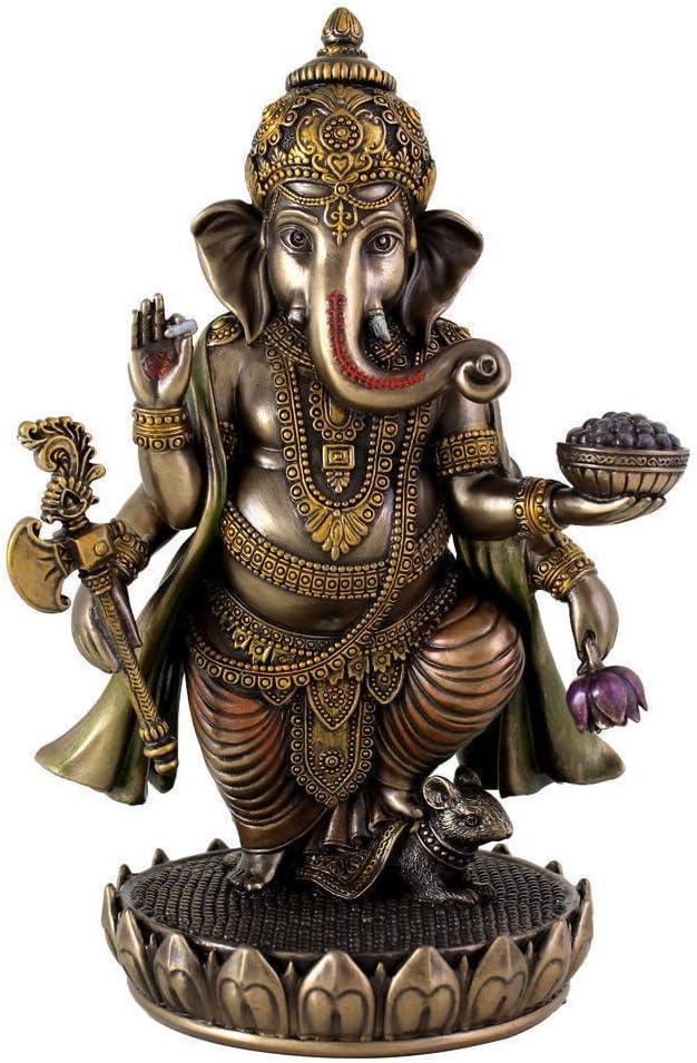 Craftvatika Figurine de dieu hindou debout en bronze coul/é /à froid