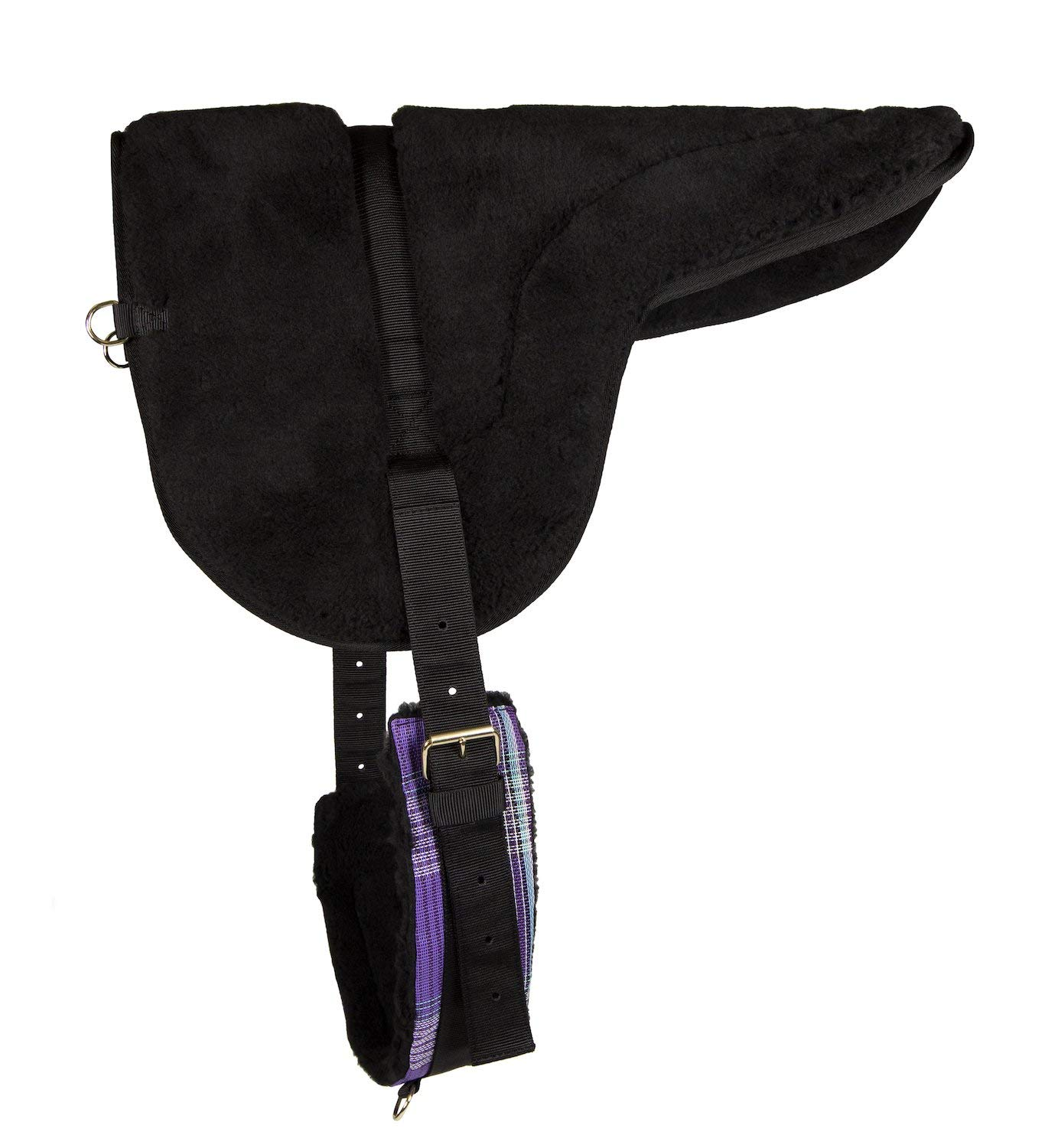 Kensington Fleece Bareback Pad - Heavy Duty Saddle Fleece with 1'' Thick Foam Center - Measures 29'' Long and 36'' Wide by kensington products