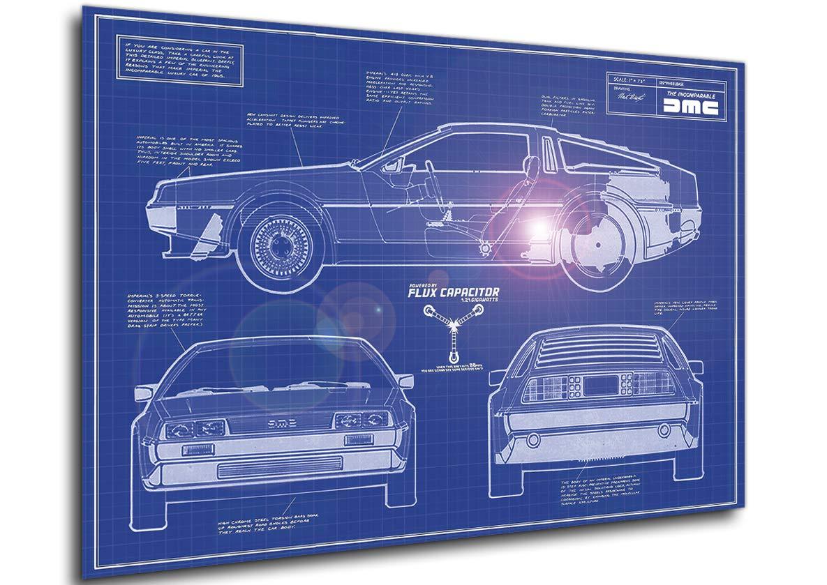Instabuy Poster Blueprint - Regreso al Futuro - Delorean ...