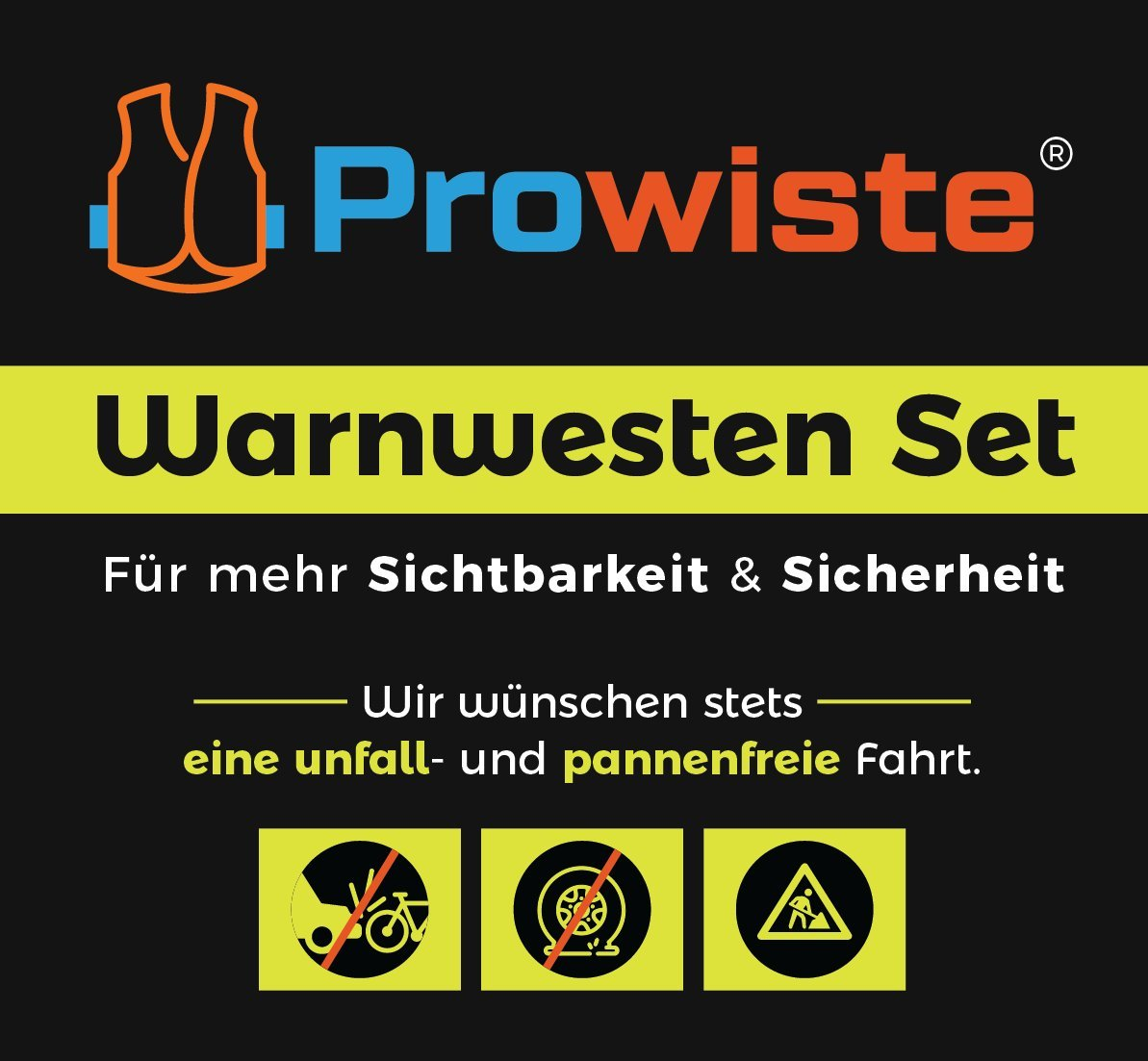 Set of 4/Hi Viz Safety Vest Fluorescent Yellow High Visibility Vest EN 471/Accident Car Star Line Crease Resistant Washable/ /Safety Vest with Reflective Stripes and Velcro Closure Universal Size