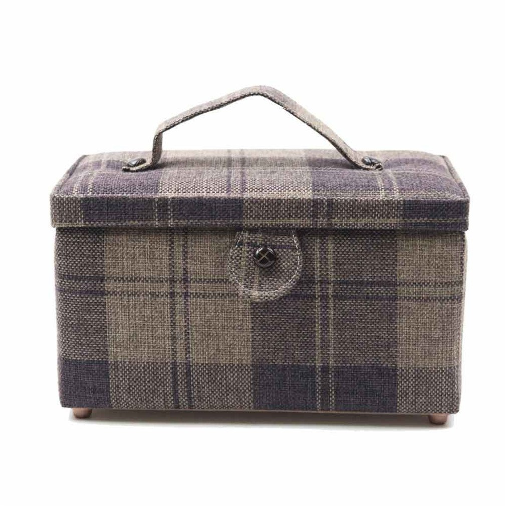 KVNMDJ Sewing Tools Home Storage Box Fabric Crafts Sewing Box Best Gift For Mother 27.517.515Cm 1