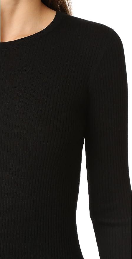 Black Small Choose SZ//color Theory Women/'s Mirzi Refine Sweater