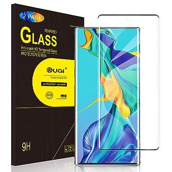 KuGi para Samsung Galaxy Note 10+ Protector de Pantalla, Cristal Templado Cuerpo completo Protector de pantalla Diseñado para Samsung Galaxy Note 10+ ...