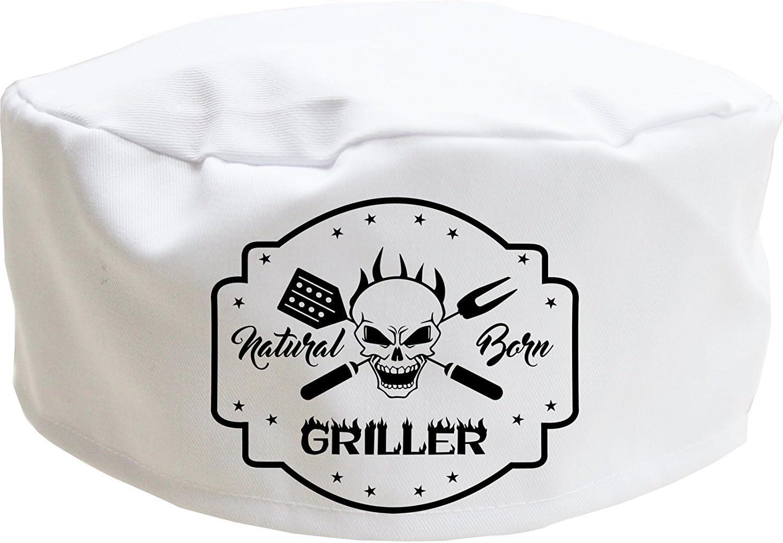 regalo divertente per uomini adulti, bianco donne e bambini Cookify Grillfather Cappello da chef con teschio