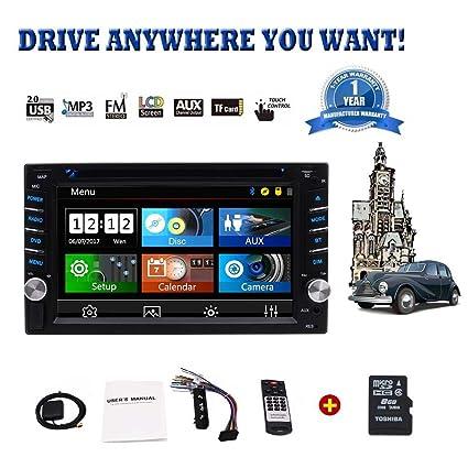"""Mejor estéreo Comprar coches - Unidad Wince Doble Din Car Audio Car Radio Head 6.2"""""""