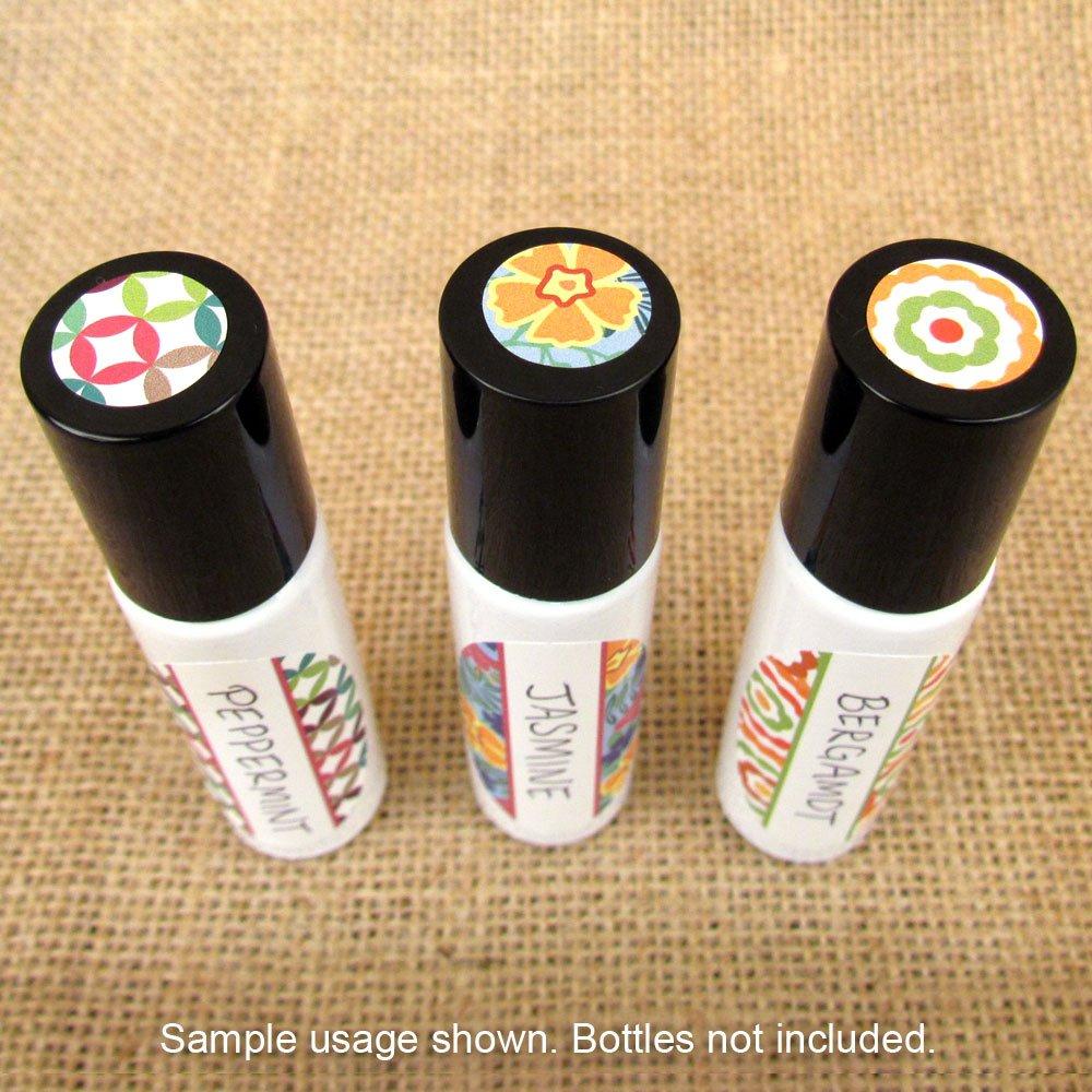 81-Kaleidoscope-Oval-Poly-Weatherproof-Essential-Oil-Bottle-Labels-Plus-81-Top-S