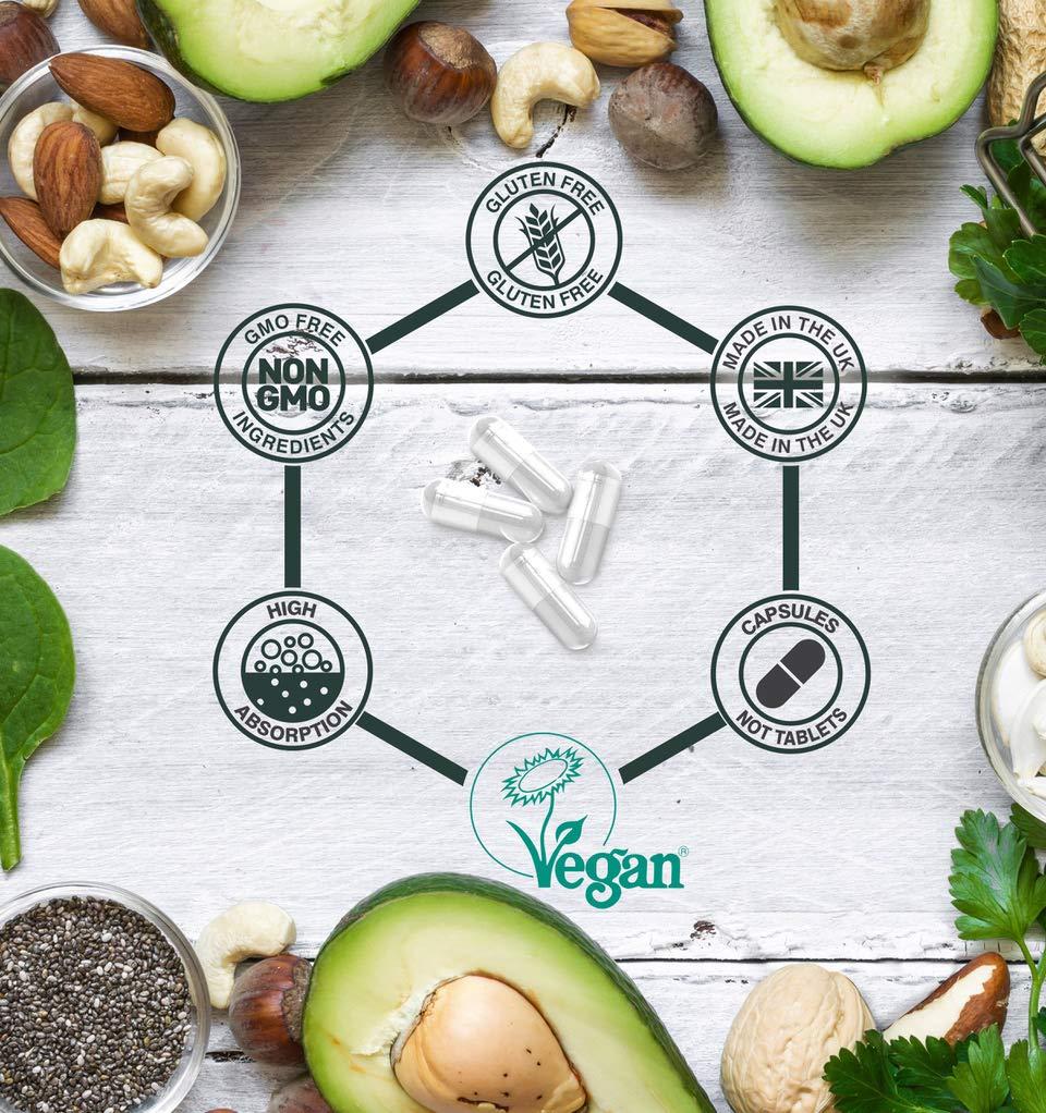 Cápsulas certificadas Vegano del citrato de magnesio 200mg 180, magnesio altamente absorbible de Rite-Flex: Amazon.es: Salud y cuidado personal