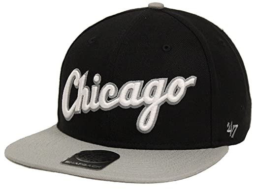 95e3e94561b Image Unavailable. Image not available for. Color   47 The Brand Script  Side Chicago White Sox Black Gray Snapback