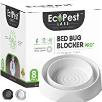 Bed Bug Interceptors - 8 Pack | Bed Bug Blocker (Pro) Interceptor Traps (White) | Insect Trap, Monitor, and Detector for…