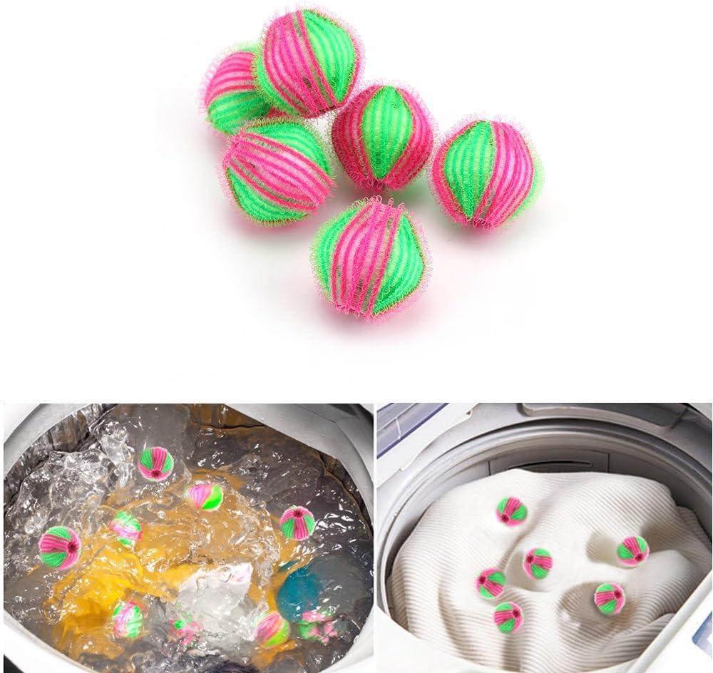 DEBEME bola de lavado, 6 unidades de pelusa para quitar pelusas, descontaminación, lavandería, para uso doméstico: Amazon.es: Hogar