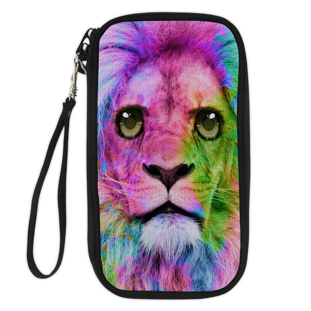Amzbeauty Cute Passport Holder Personalized Animal Multiple Zipper Travel Wallet