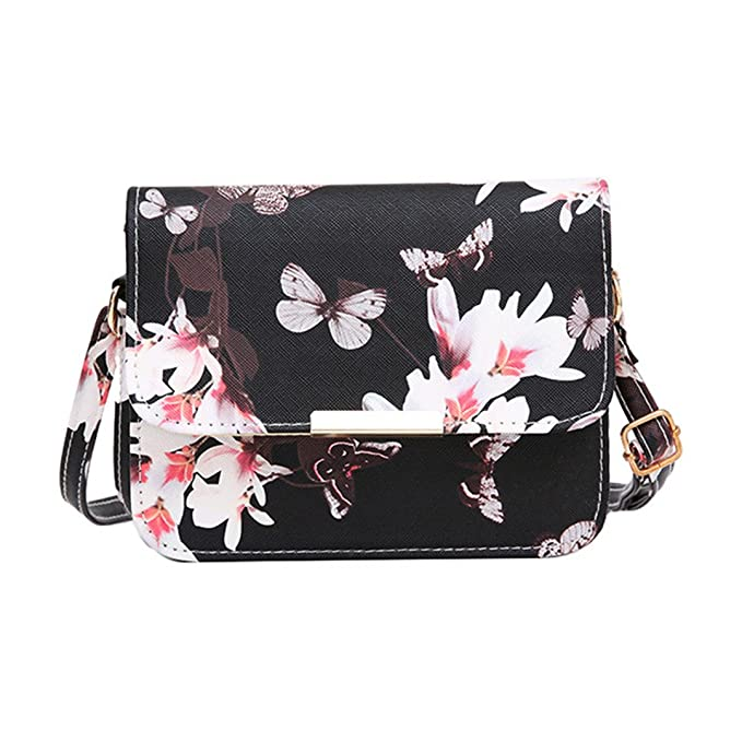 2435050cd7b0 Women Bags Design Small Satchel Women Bag Flower Butterfly Printed PU  Leather Shoulder Bag Retro Crossbody