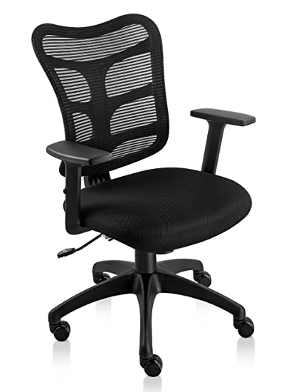 Incredible Nkv Ergonomic Office Chair Mesh Computer Desk Chair Swivel Task Chair With Adjustable Armrests Black Download Free Architecture Designs Estepponolmadebymaigaardcom