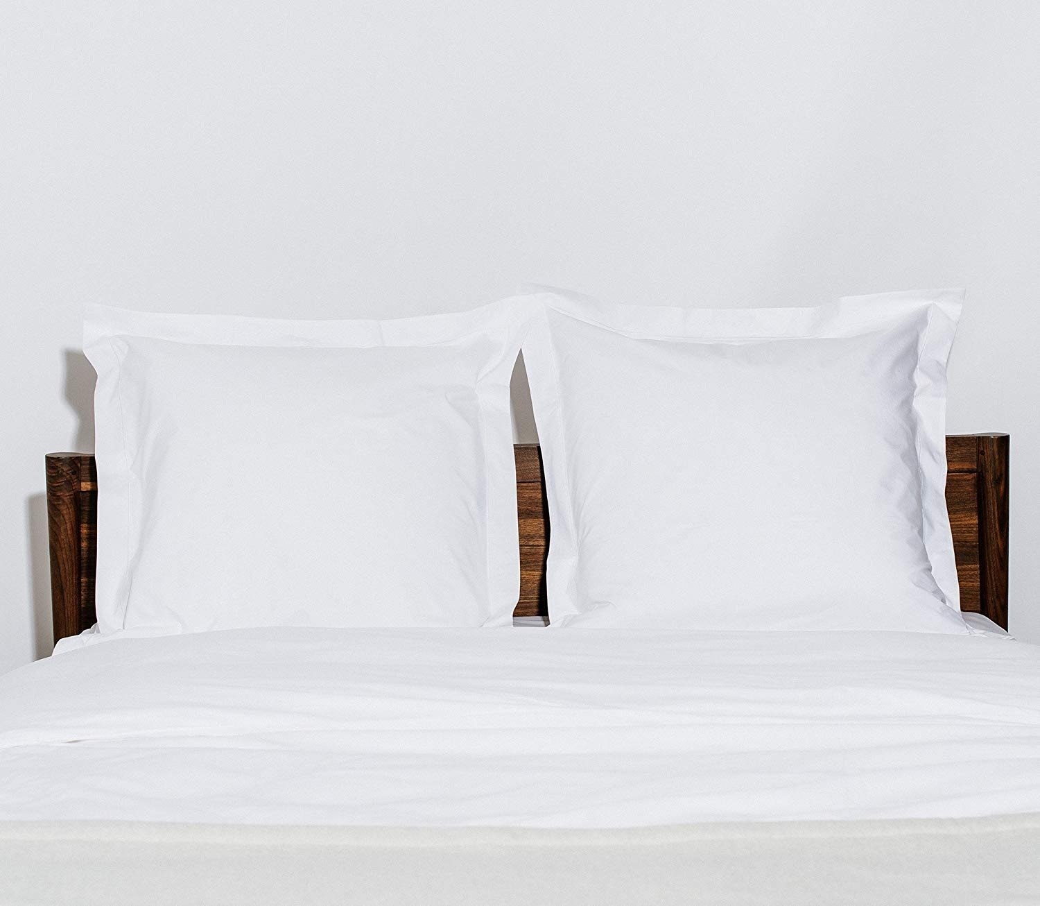 Pillow Shams Set of 2 Black, Standard 20x30 New 550 Thread Count Natural Cotton Euro Pillow Shams with 2 inch Border