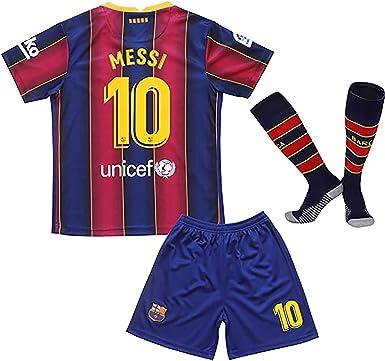 Amazon Com Karpos 2020 2021 Temporada Messi Jersey Pantalones Cortos Y Calcetines Para Ninos Jovenes Clothing