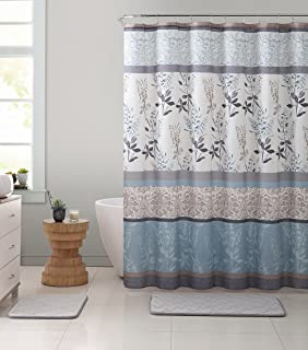 Ruthys Textile Multi Floral And Branches Design Shower Bath Curtain Size 72 X