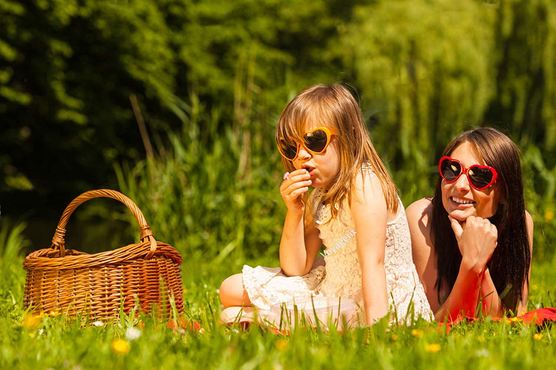 OAONNEA 6 Pack Neon Colors Heart Shape Sunglasses Party Favor Supplies