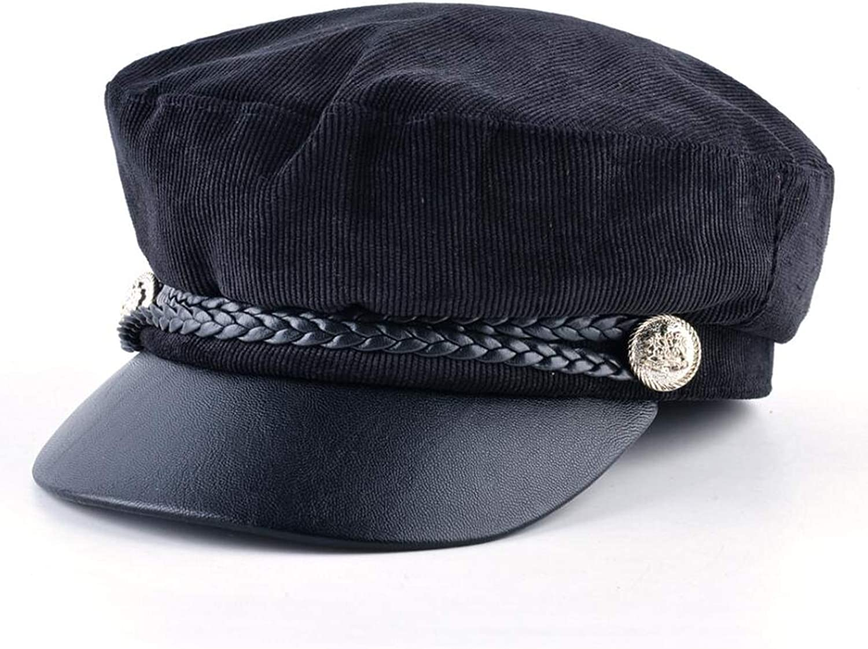 Winter Hat Woman Wool Balelet Spring and Autumn Winter Octagonal Hat Simple Plain Cap Fashion