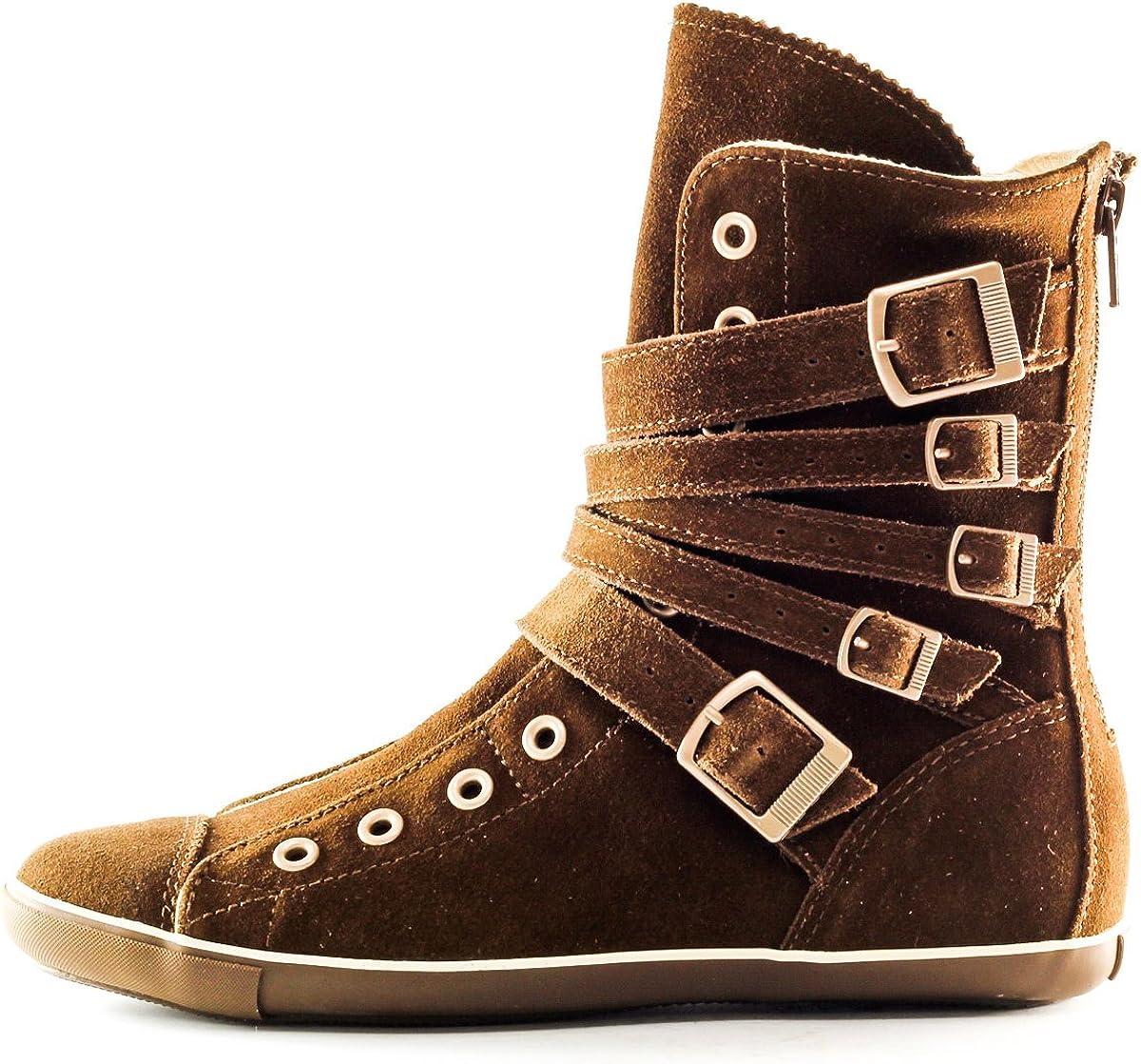 Star Light Multi Strap Boot,5.5,Brown