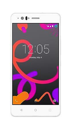 BQ Aquaris M5 Smartphone white (5 Zoll FHD, Qualcomm Snapdragon 615 Octa Core, 16 GB + 2 GB RAM, 13-MP-Kamera, Android)