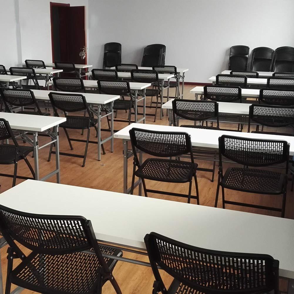CAIJUN 椅子 多機能 折りたたみ可能 ポータブル 鉄骨 背もたれ付き 全体の服装 通気孔の設計、 2色展開 Dual-use (色 : 黒, サイズ さいず : 49x57x83cm) B07JZ8YQXV 黒 49x57x83cm