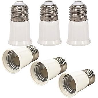 4x E27 auf E27 LED Leuchtmittel Verlängerung Adapter Lampe Sockel Fassung