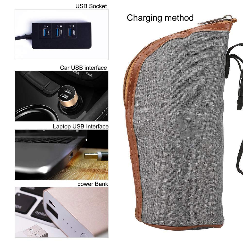 AUNMAS Scalda biberon USB Riscaldamento Tazza da Viaggio Portatile Riscaldatore del Latte Biberon Borsa per la conservazione dei Neonati
