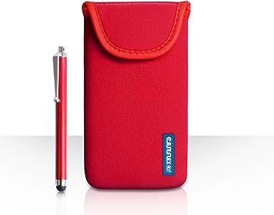 Funda Flex LG G Flex 2 funda neopreno bolsa colour rojo con lápiz ...