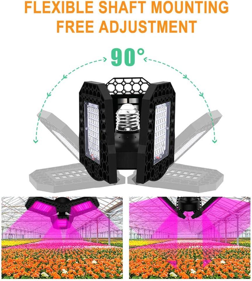 Yous Auto Lampada per Piante Lampada per Coltivazione 144 LED Spettro Completo con UV Adatto Coltivazione Indoor per Fase Vegetativa