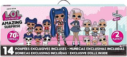 L O L Surprise Amazing Surprise With 14 Dolls 70 Surprises 2 Playset Multicolor Toys Games