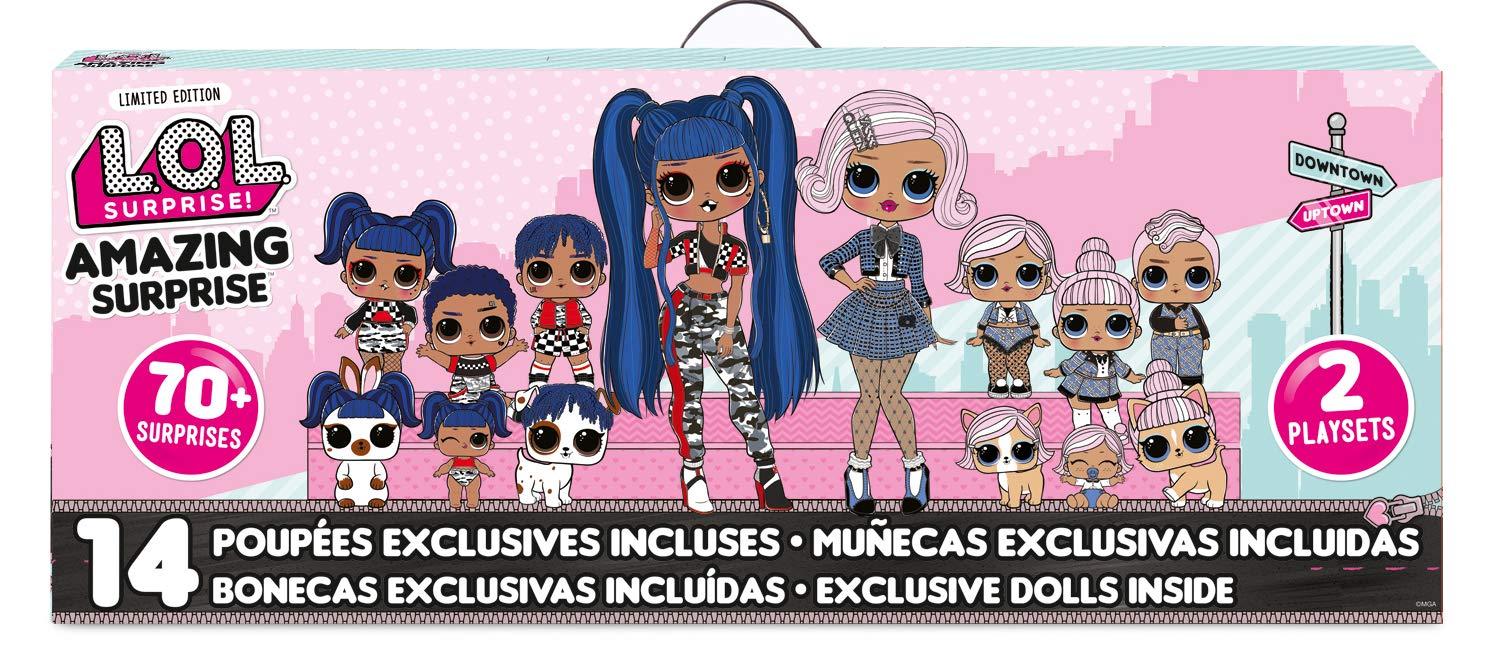 L.O.L. Surprise! Amazing Surprise with 14 Dolls, 70+ Surprises & 2 Playset, Multicolor