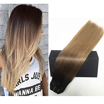 Amazon.com   TheFashionWay Real Human Hair Clip on Hair Extensions Thick  7pcs 120g Set Silky Straight Top Grade 7A Clip in Hair for Fashion women( 2T6T8 3ec1c58550