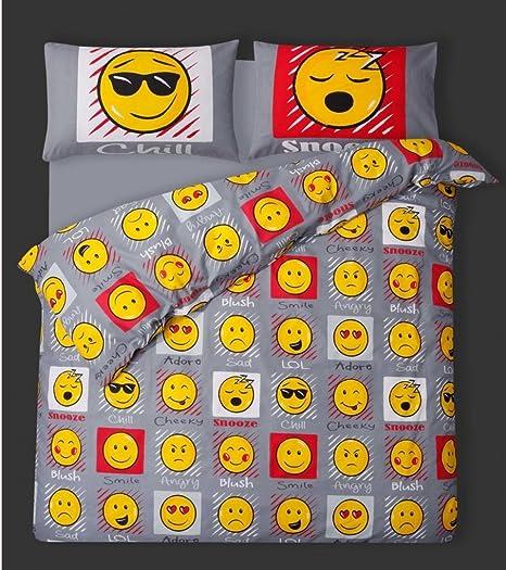 Multicolore Unique Emoji Housse de Couette de