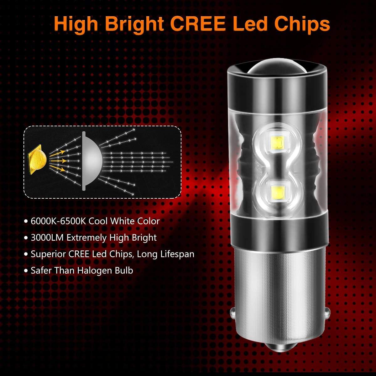 6000K White 7443 T20 LED Backup Light Bulbs,AUTOBEAM 2000 Lumens 7440 for Back Up Lights Reverse Lights 360 Degree Pack of 2